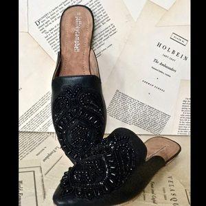 Jeffrey Campbell Leather Beaded Slide Sandal 10